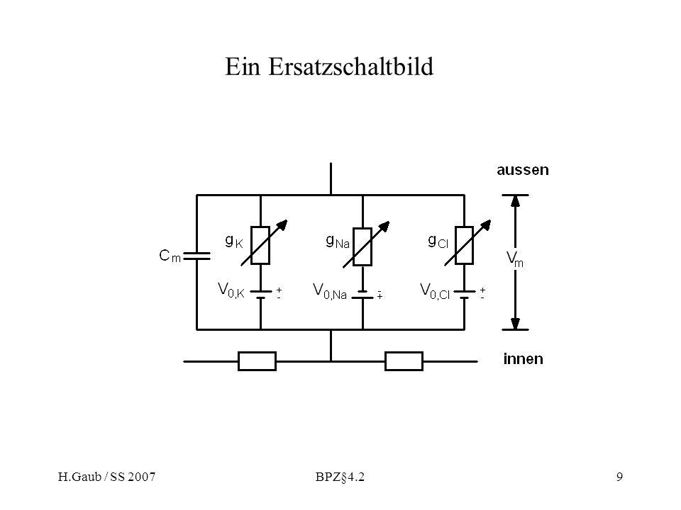 Ein Ersatzschaltbild H.Gaub / SS 2007 BPZ§4.2