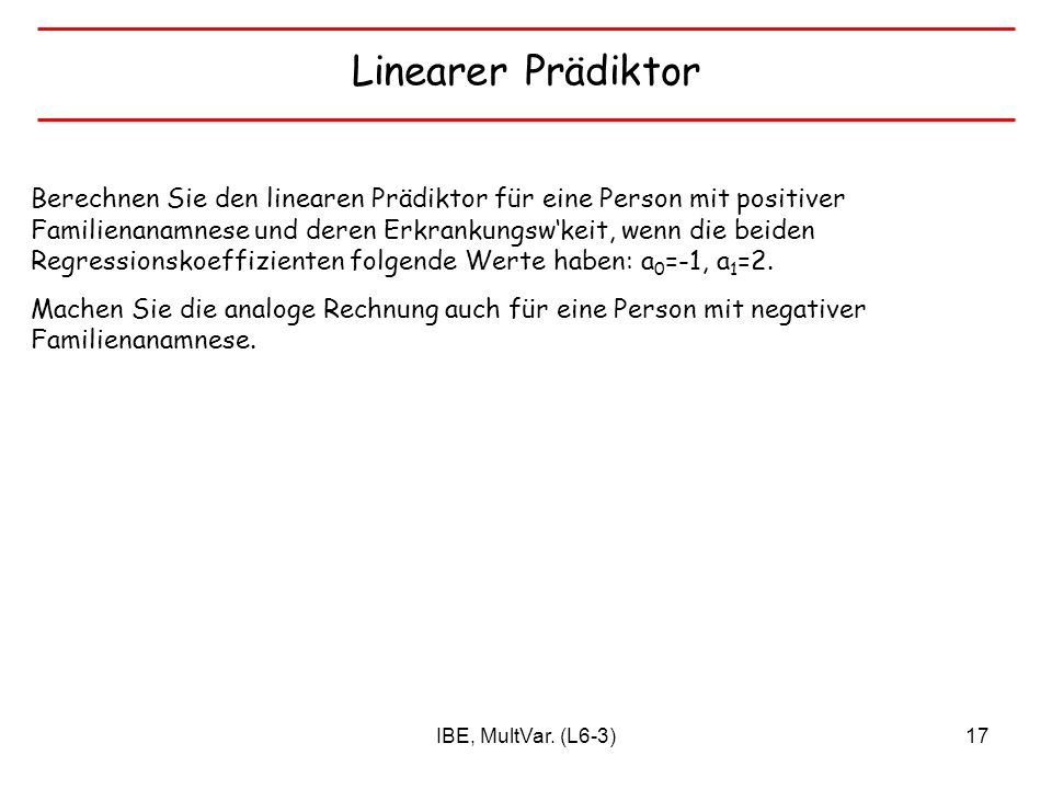 Linearer Prädiktor