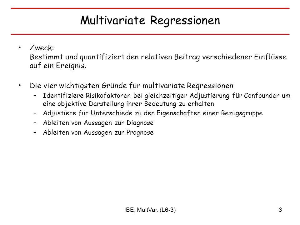 Multivariate Regressionen