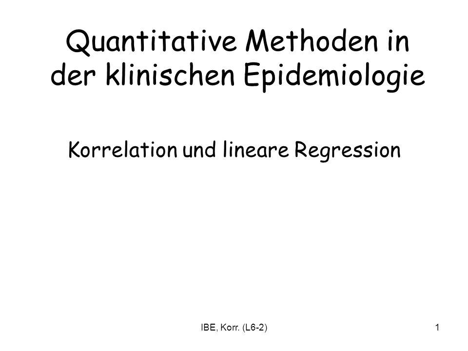 Quantitative Methoden in der klinischen Epidemiologie