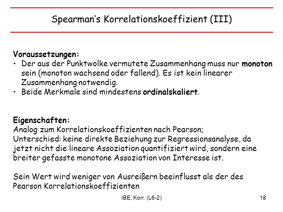Spearman's Korrelationskoeffizient (III)
