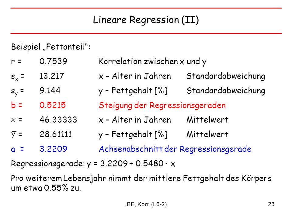 Lineare Regression (II)