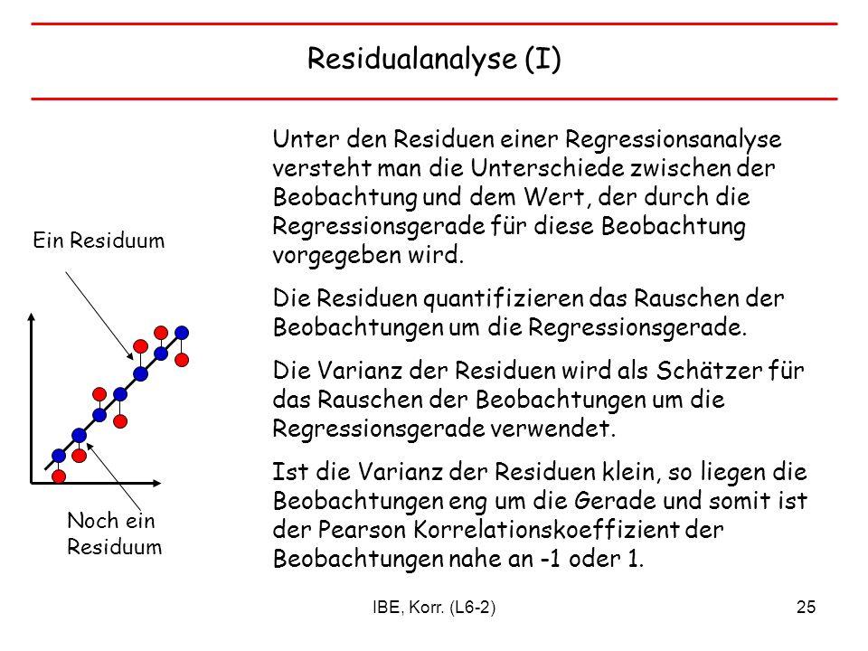 Residualanalyse (I)