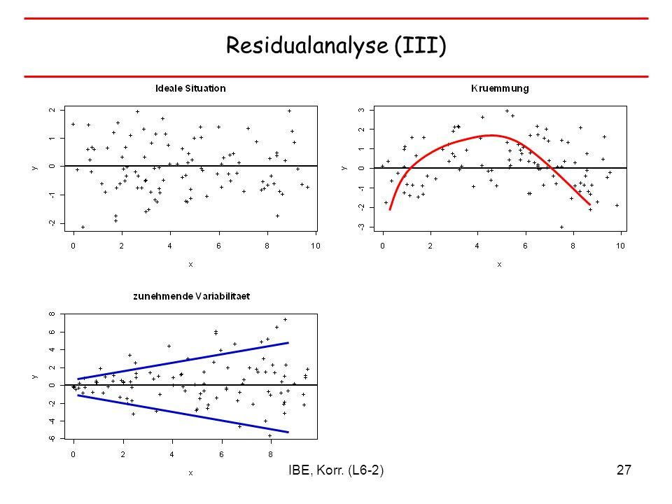 Residualanalyse (III)