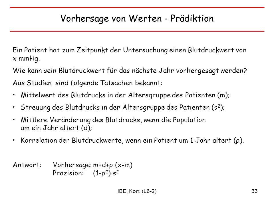 Vorhersage von Werten - Prädiktion