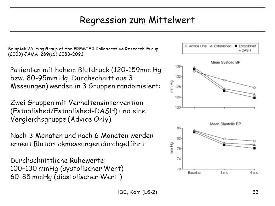 Regression zum Mittelwert