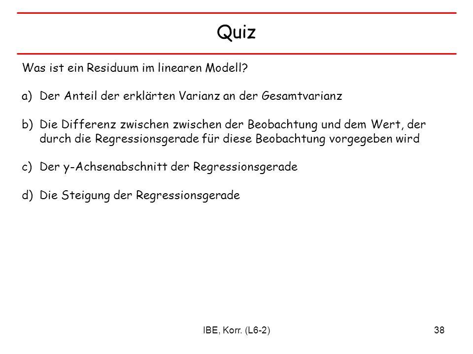 Quiz Was ist ein Residuum im linearen Modell
