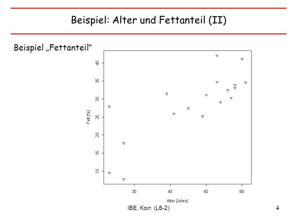 Beispiel: Alter und Fettanteil (II)