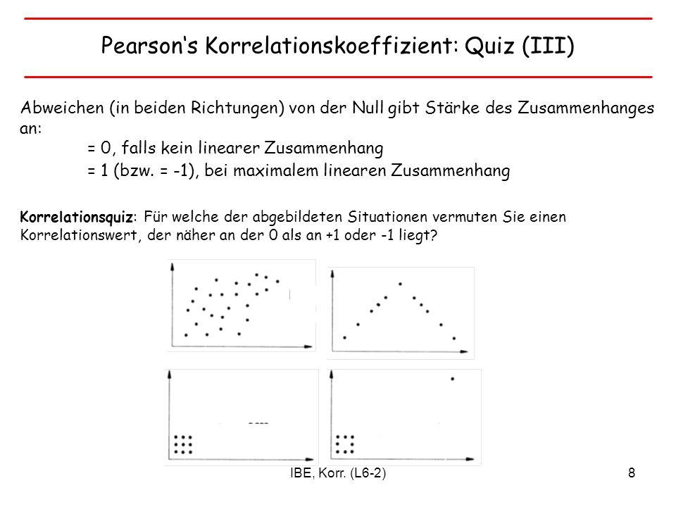 Pearson's Korrelationskoeffizient: Quiz (III)