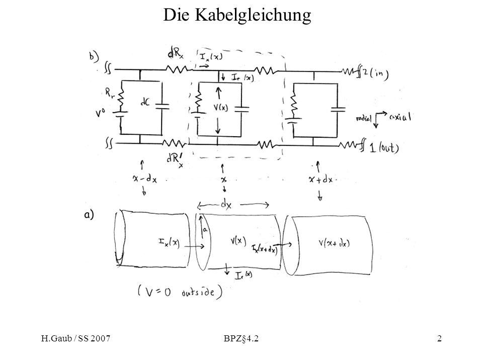 Die Kabelgleichung H.Gaub / SS 2007 BPZ§4.2