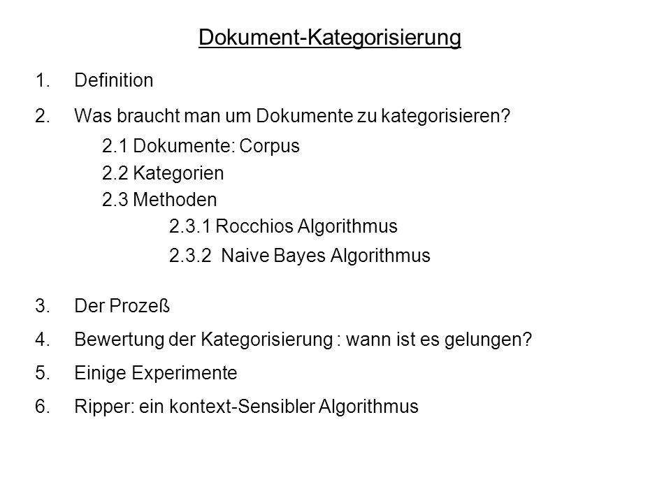 Dokument-Kategorisierung