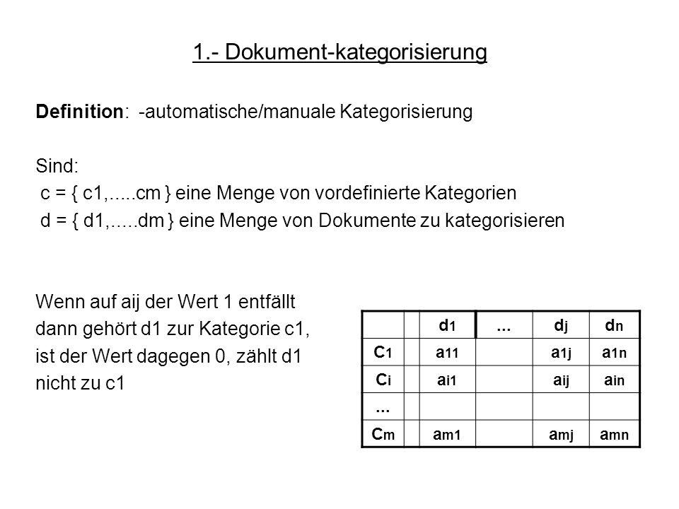 1.- Dokument-kategorisierung