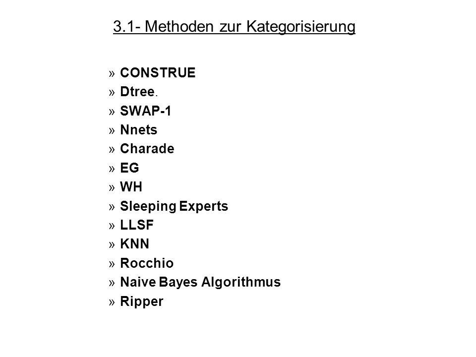 3.1- Methoden zur Kategorisierung