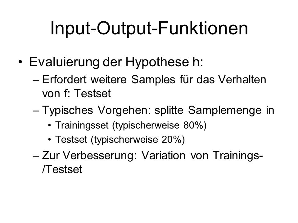 Input-Output-Funktionen