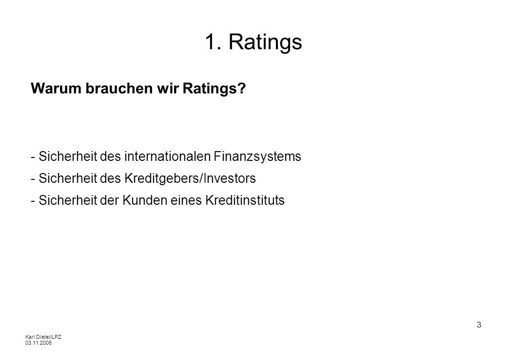 1. Ratings Warum brauchen wir Ratings