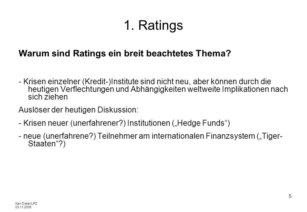 1. Ratings Warum sind Ratings ein breit beachtetes Thema