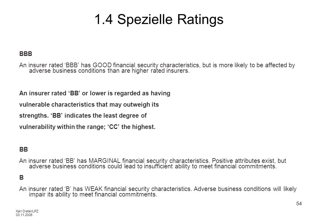 1.4 Spezielle Ratings BBB.