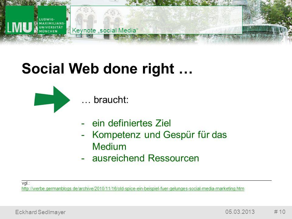 """Keynote """"social Media"""