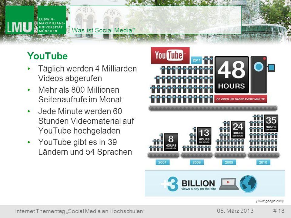 YouTube Täglich werden 4 Milliarden Videos abgerufen
