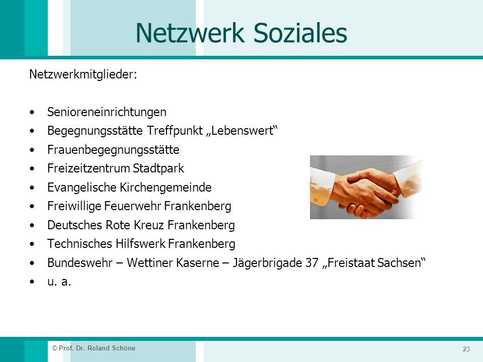 Netzwerk Soziales Netzwerkmitglieder: Senioreneinrichtungen