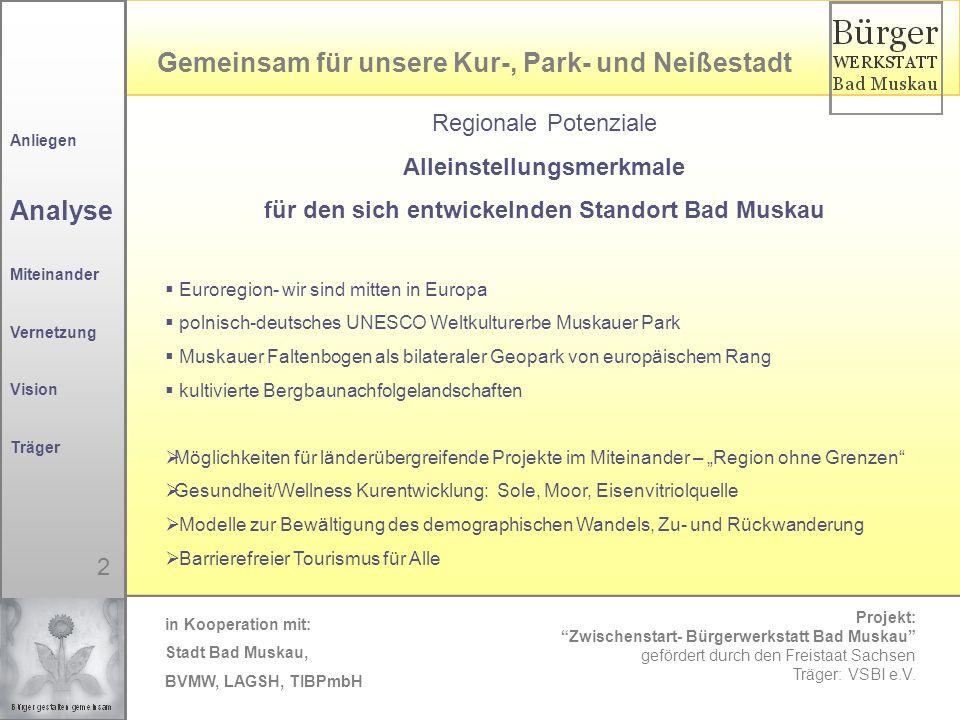 Alleinstellungsmerkmale für den sich entwickelnden Standort Bad Muskau
