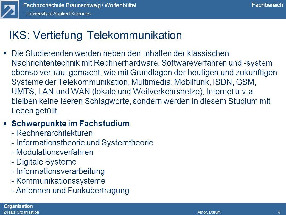 IKS: Vertiefung Telekommunikation