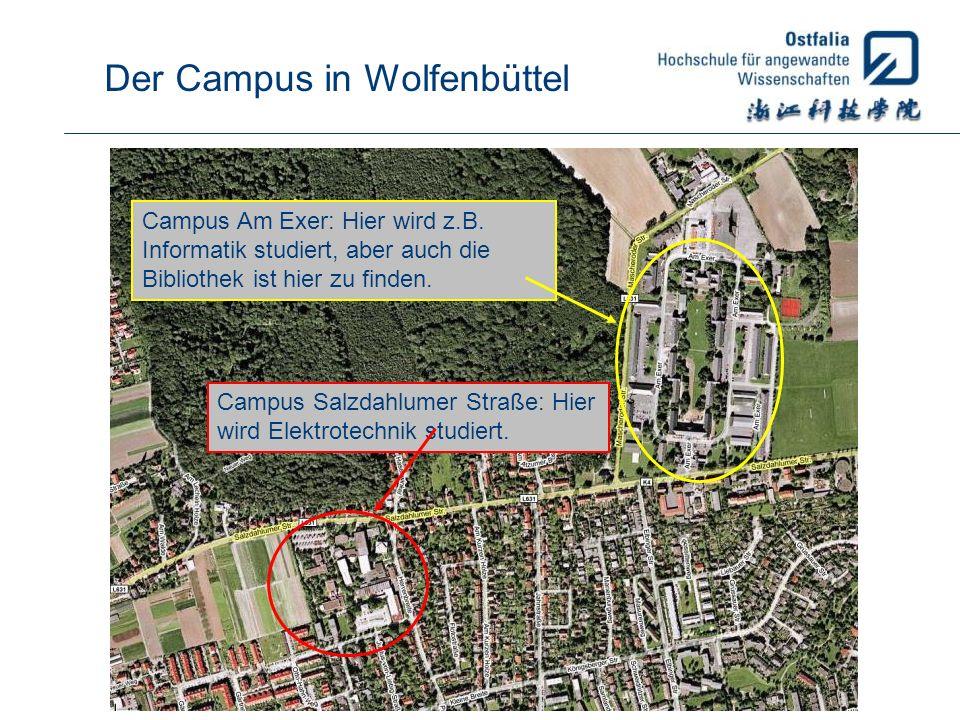 Der Campus in Wolfenbüttel