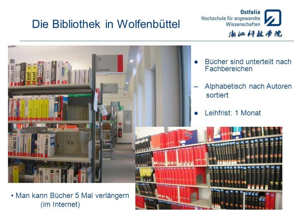 Die Bibliothek in Wolfenbüttel