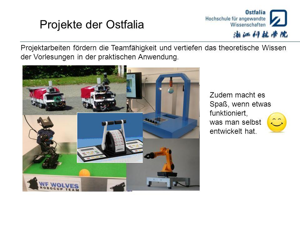 Projekte der Ostfalia Projektarbeiten fördern die Teamfähigkeit und vertiefen das theoretische Wissen.