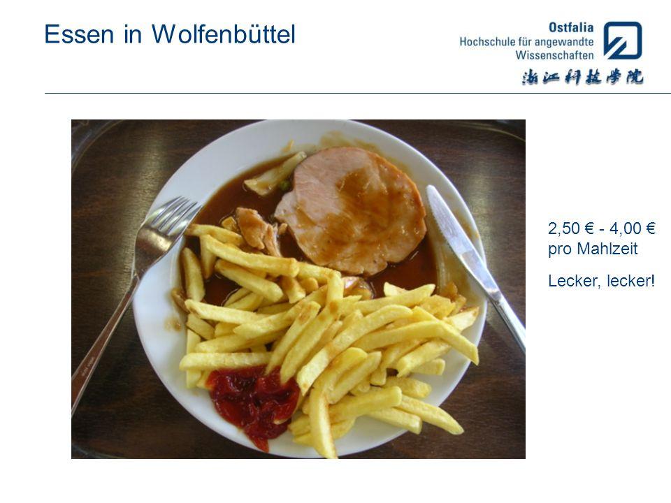 Essen in Wolfenbüttel 2,50 € - 4,00 € pro Mahlzeit Lecker, lecker!