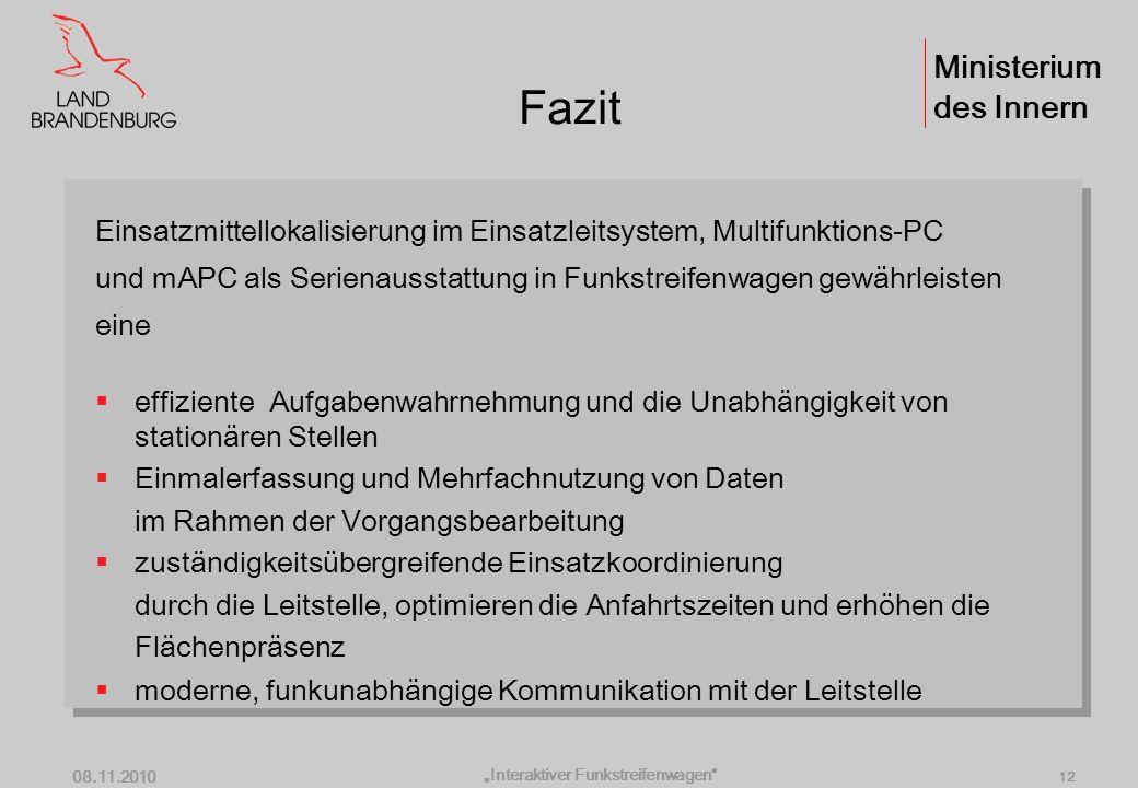 """Interaktiver Funkstreifenwagen"