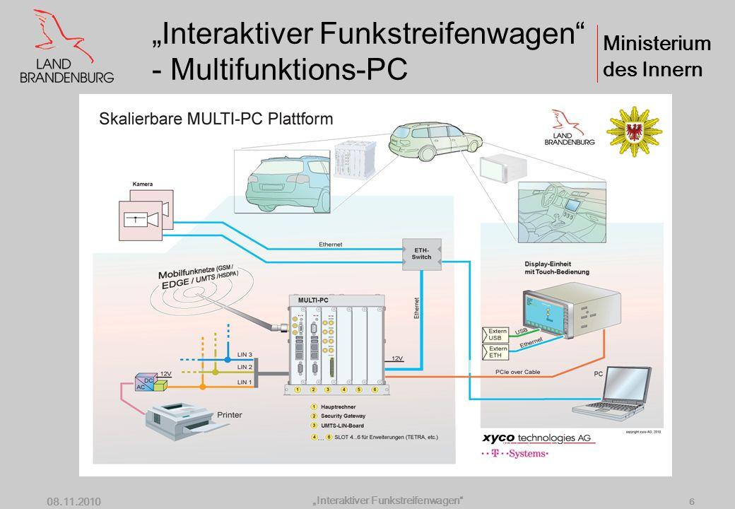 """Interaktiver Funkstreifenwagen - Multifunktions-PC"