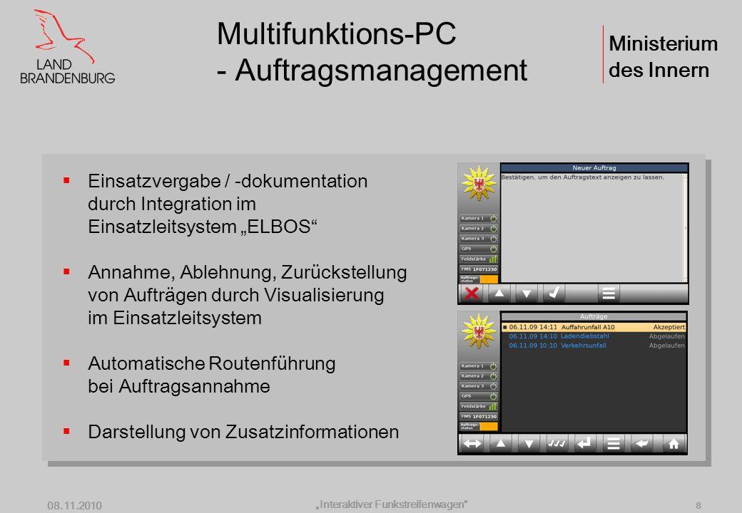 Multifunktions-PC - Auftragsmanagement