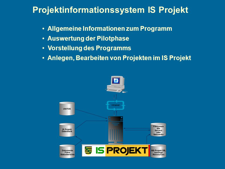 Projektinformationssystem IS Projekt