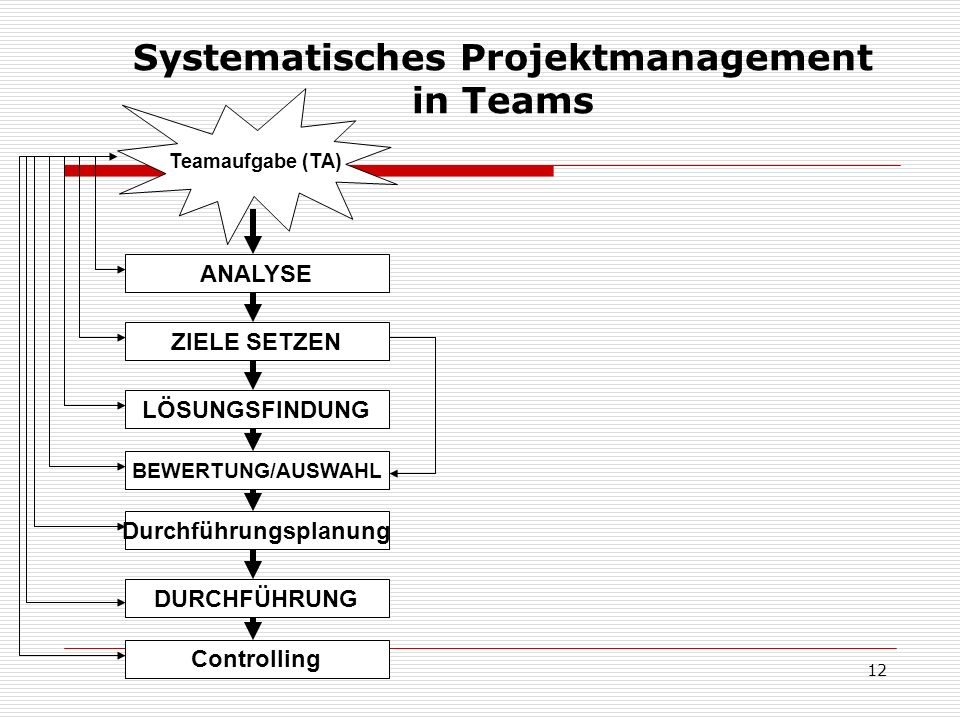 Systematisches Projektmanagement in Teams