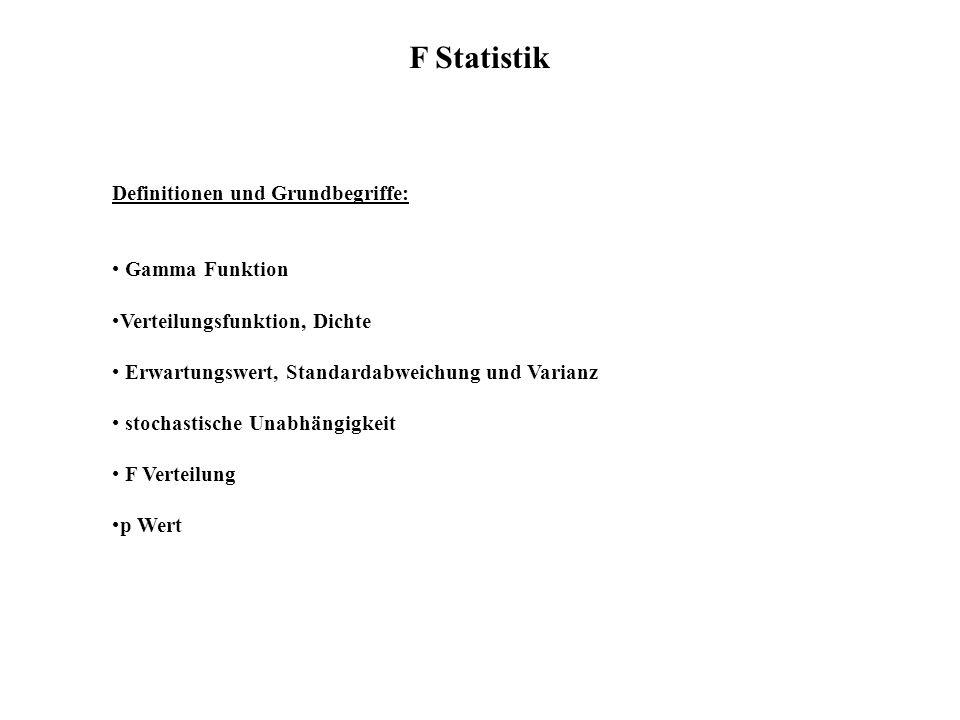 F Statistik Definitionen und Grundbegriffe: Gamma Funktion