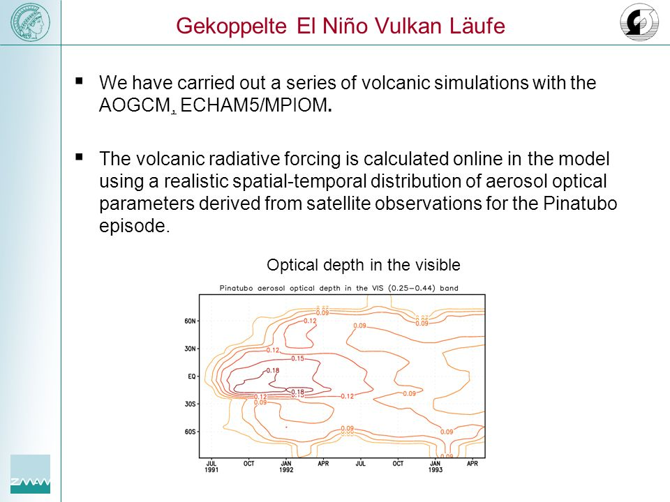 Gekoppelte El Niño Vulkan Läufe
