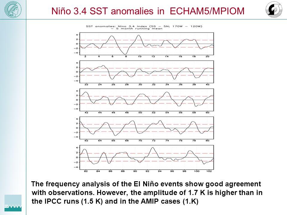 Niño 3.4 SST anomalies in ECHAM5/MPIOM