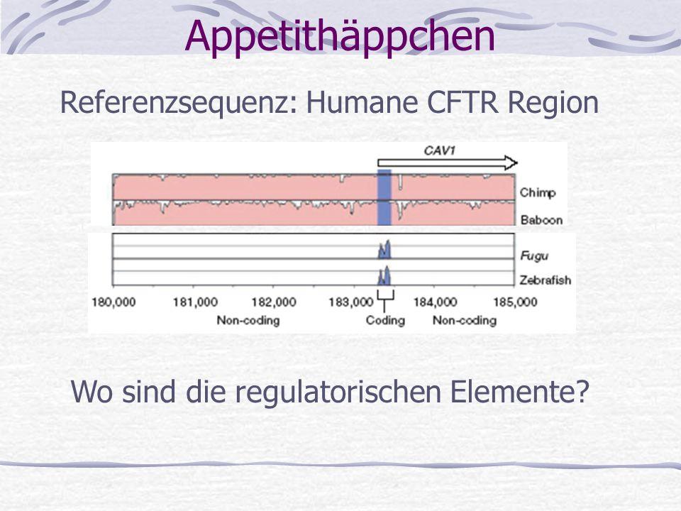 Appetithäppchen Referenzsequenz: Humane CFTR Region