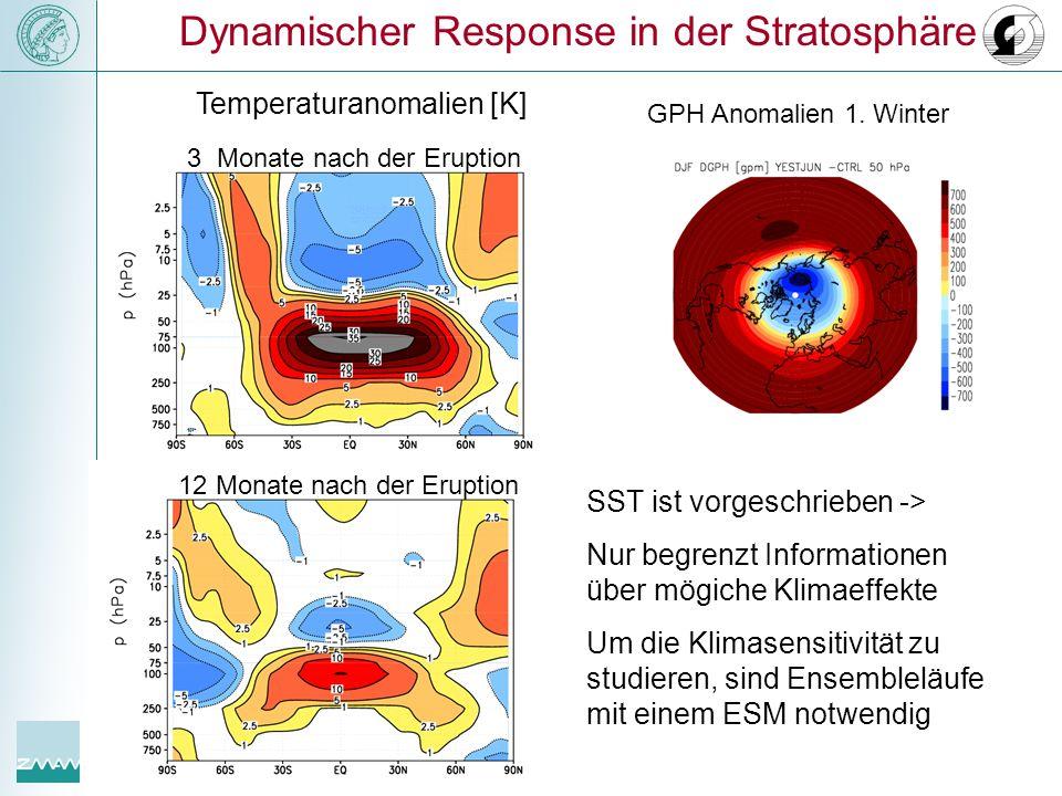 Dynamischer Response in der Stratosphäre