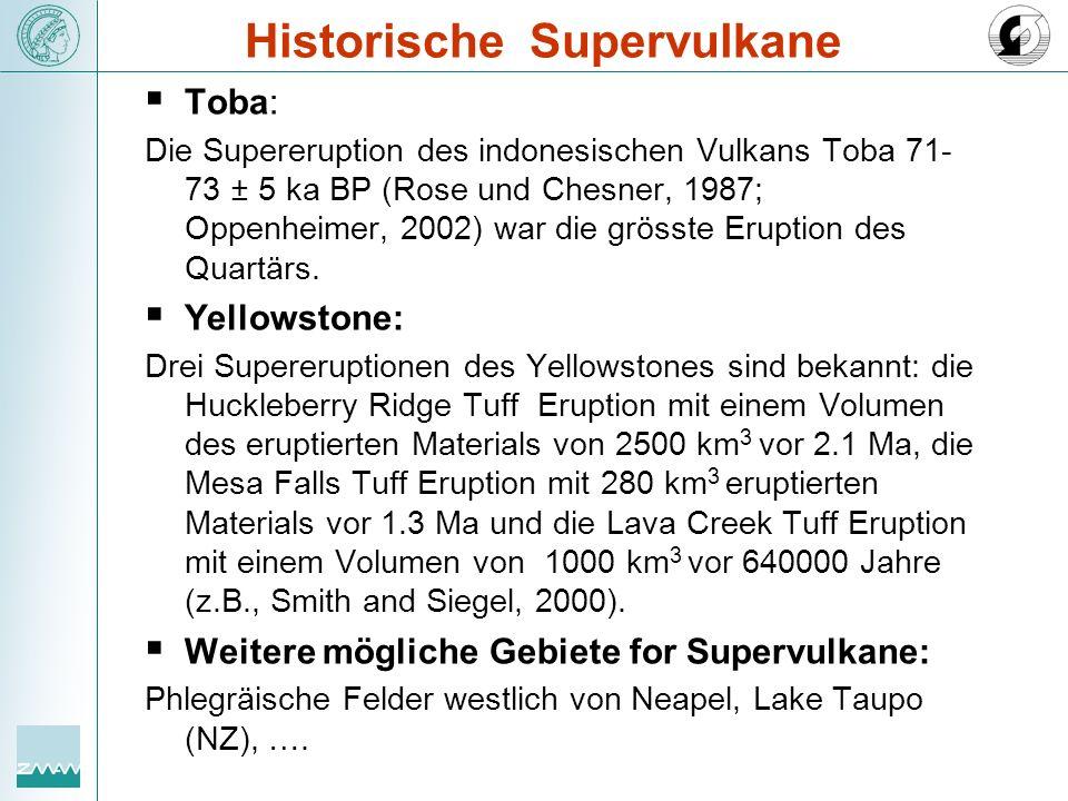 Historische Supervulkane