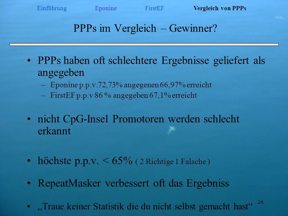 PPPs im Vergleich – Gewinner