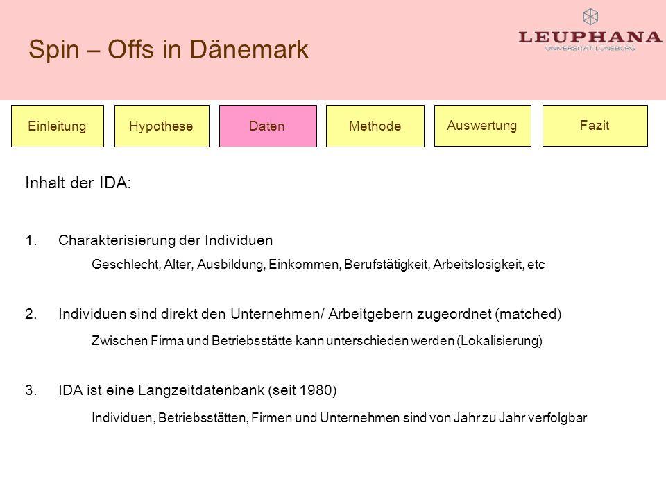 Inhalt der IDA: Charakterisierung der Individuen