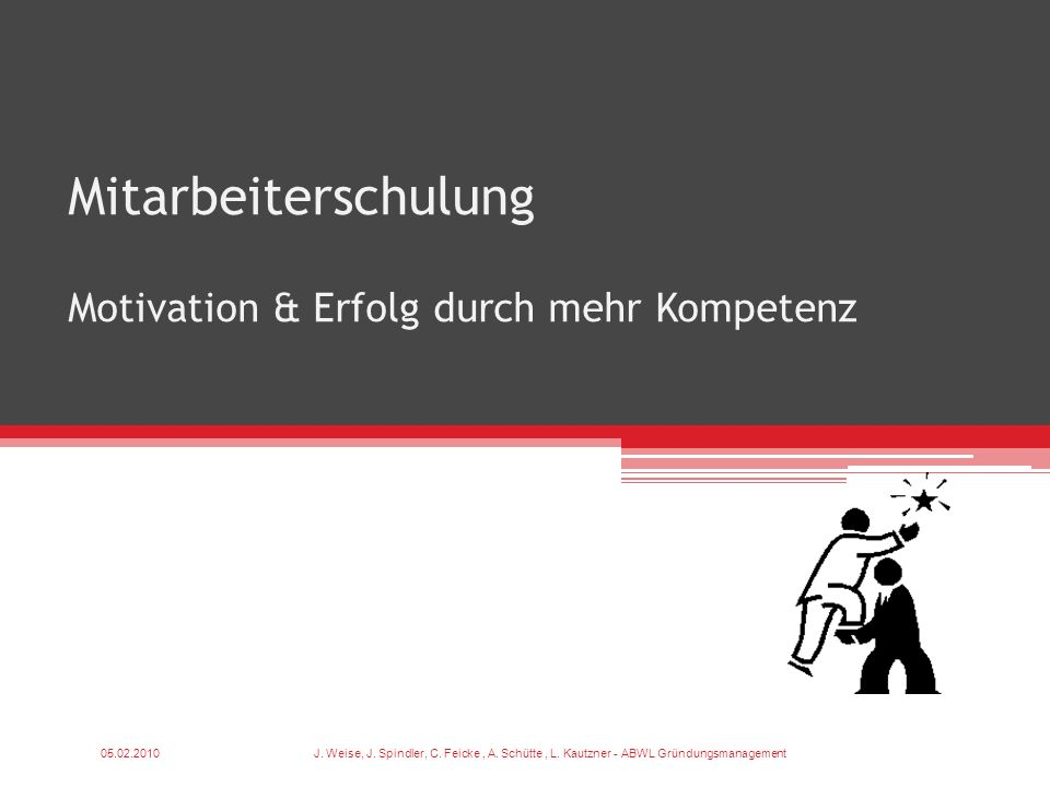Mitarbeiterschulung Motivation & Erfolg durch mehr Kompetenz