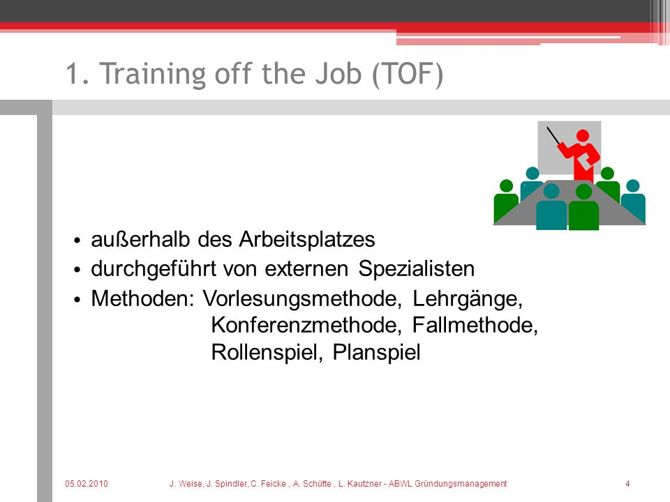 1. Training off the Job (TOF)