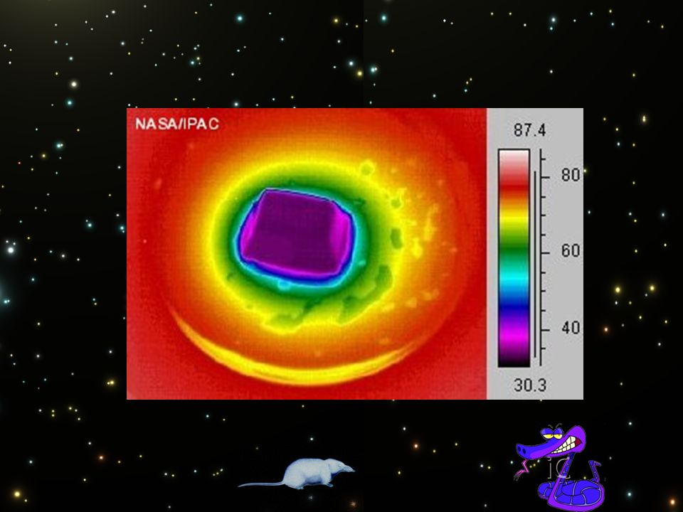 Die primäre Quelle infraroter Strahlung ist Wärme (thermische oder Wärme-Strahlung). Jeder Körper hat eine gewisse Temperatur und sendet elektromagnetische Strahlen aus. Je kühler ein Objekt ist, desto weiter liegt seine Strahlung im Infraroten. Eiswürfel, zum Beispiel, sind Infrarotquellen. Gegenstände, die nicht heiß genug sind, um sichtbares Licht abzustrahlen, senden Infrarotstrahlen ab, die wir nicht sehen können, aber als Wärme empfinden.