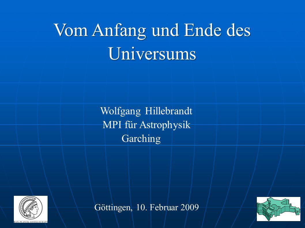 Vom Anfang und Ende des Universums