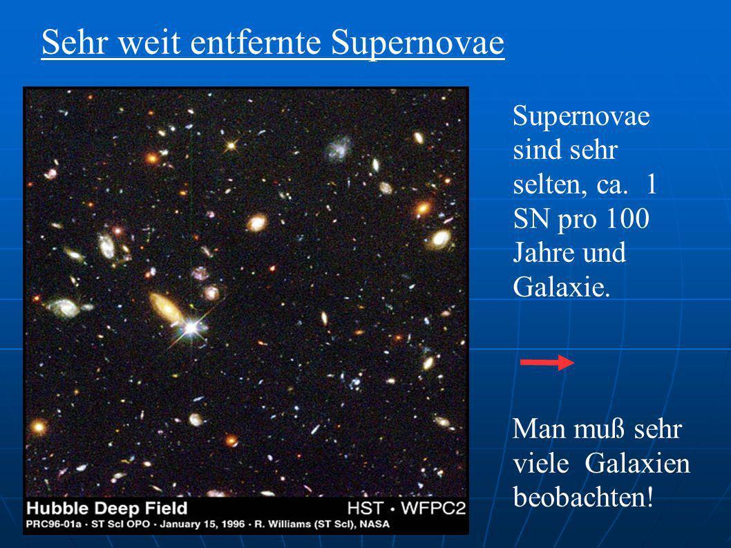 Sehr weit entfernte Supernovae