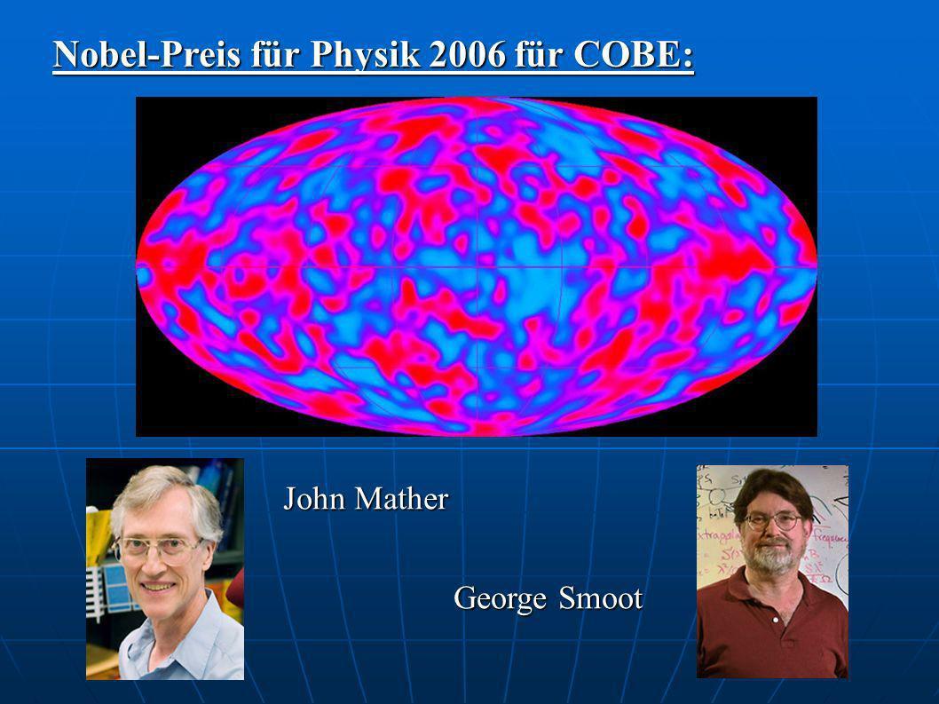 Nobel-Preis für Physik 2006 für COBE: