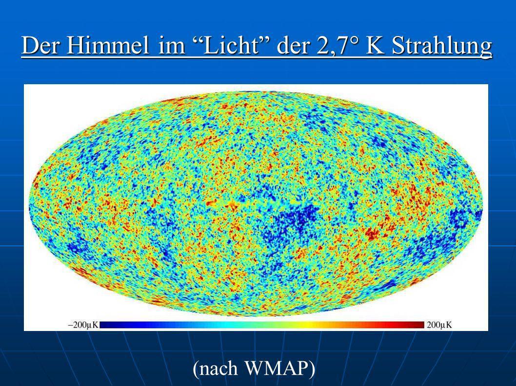 Der Himmel im Licht der 2,7° K Strahlung